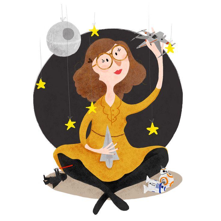 #StarWars #Illustration #Selfportrait #Drawing