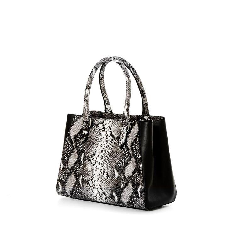 DECADENT 313 Small new handbag Natural python