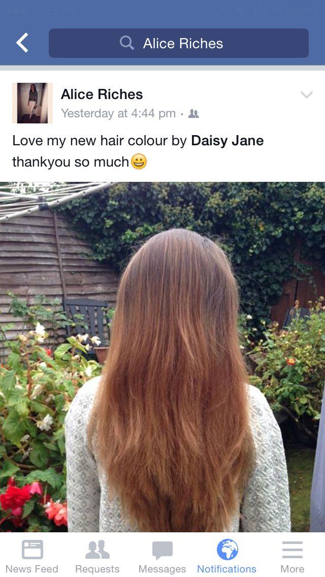 colour i done at home using bleach