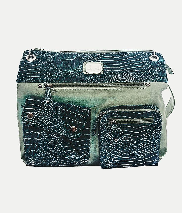 Adaa Croco Green Shoulder bag Rs. 750 buy it now on www.adaabag.com