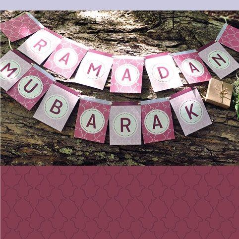 Sakina Design Ramadan Mubarak Free  Printable in 'Plum'