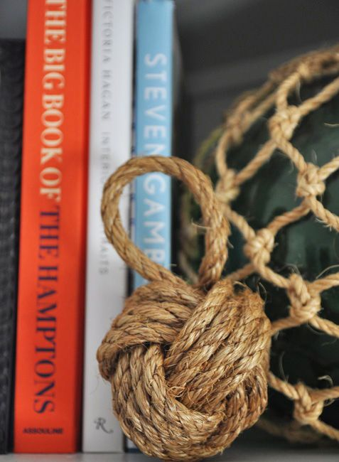 Step-by-step instructions for making a monkey's fist knot via Bungalow Blue Interiors