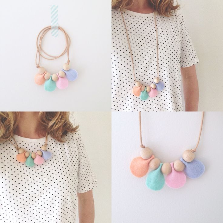"• ""Petal"" necklace • By Dear May"