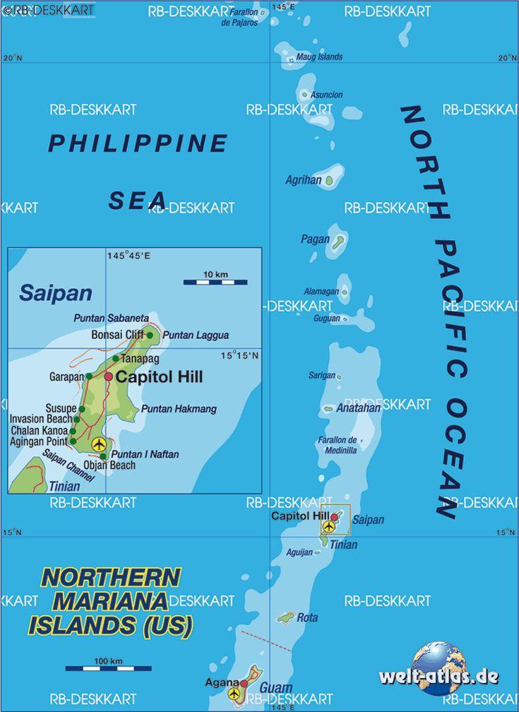Northern Mariana Islands Map by Welt-atlas.de