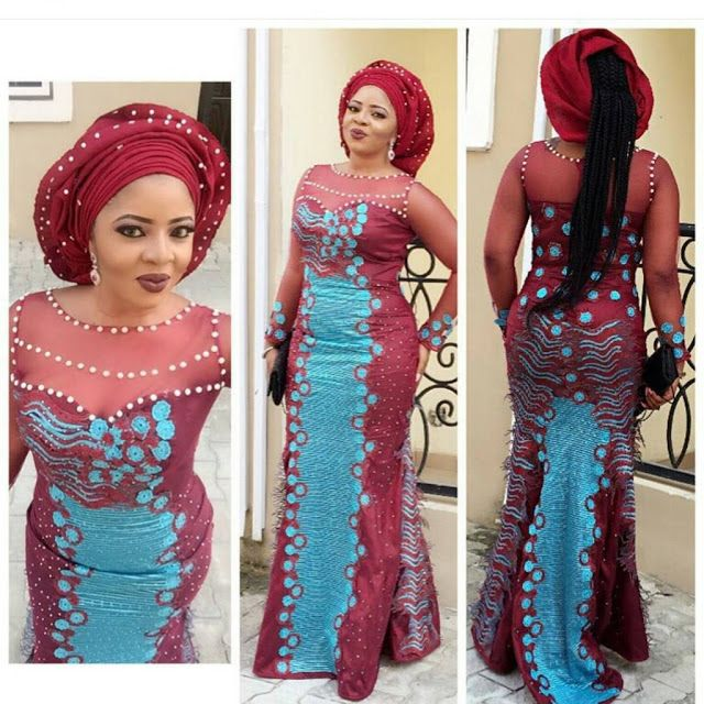 Check Out This Lovely Aso Ebi Lace Style Combinations - DeZango Fashion Zone