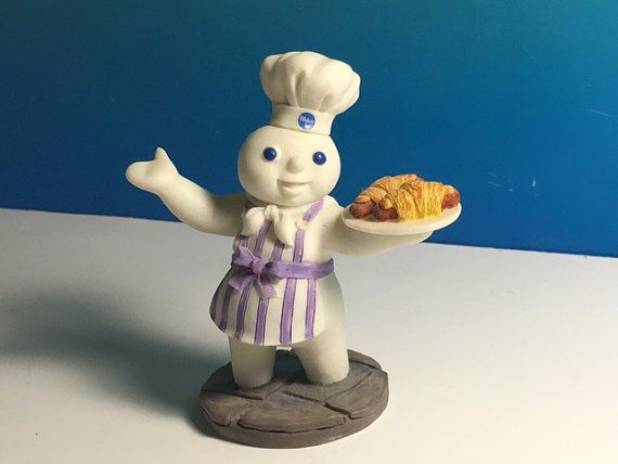 DANBURY MINT PILLSBURY Dough boy porcelain calendar figurine