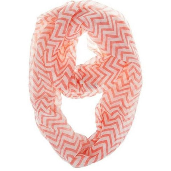 Red Chevron Infinity Scarf Chevron Scarves Womens Red Chevron Infinity... ($4.99) ❤ liked on Polyvore