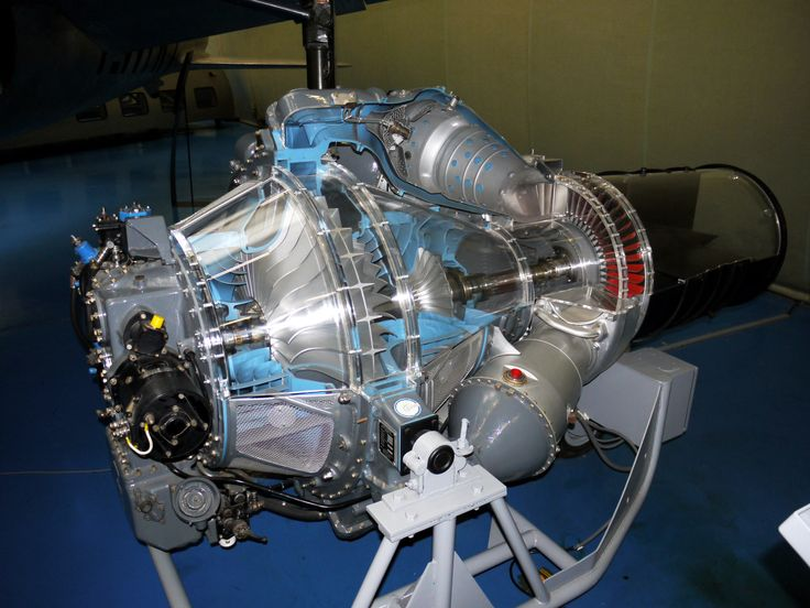 Hispano-Suiza Nene (Rolls-Royce) centrifugal compressor turbojet cutaway (designed 1944-45) at the Museum of Air and Space Paris 2009 by Pline[4000  3000] x-post /r/HI_Res
