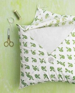 Diy cloth napkin pillow case no sewing machine required!