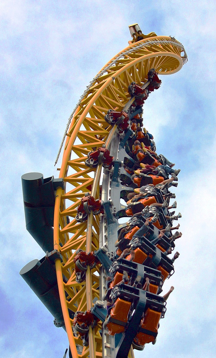 Vertical Velocity at #SixFlags, #GreatAmerica #rollercoaster