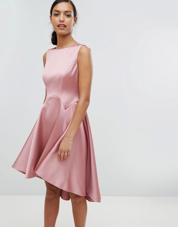 ted baker tie the knot sculpted skater bridesmaid dress pink