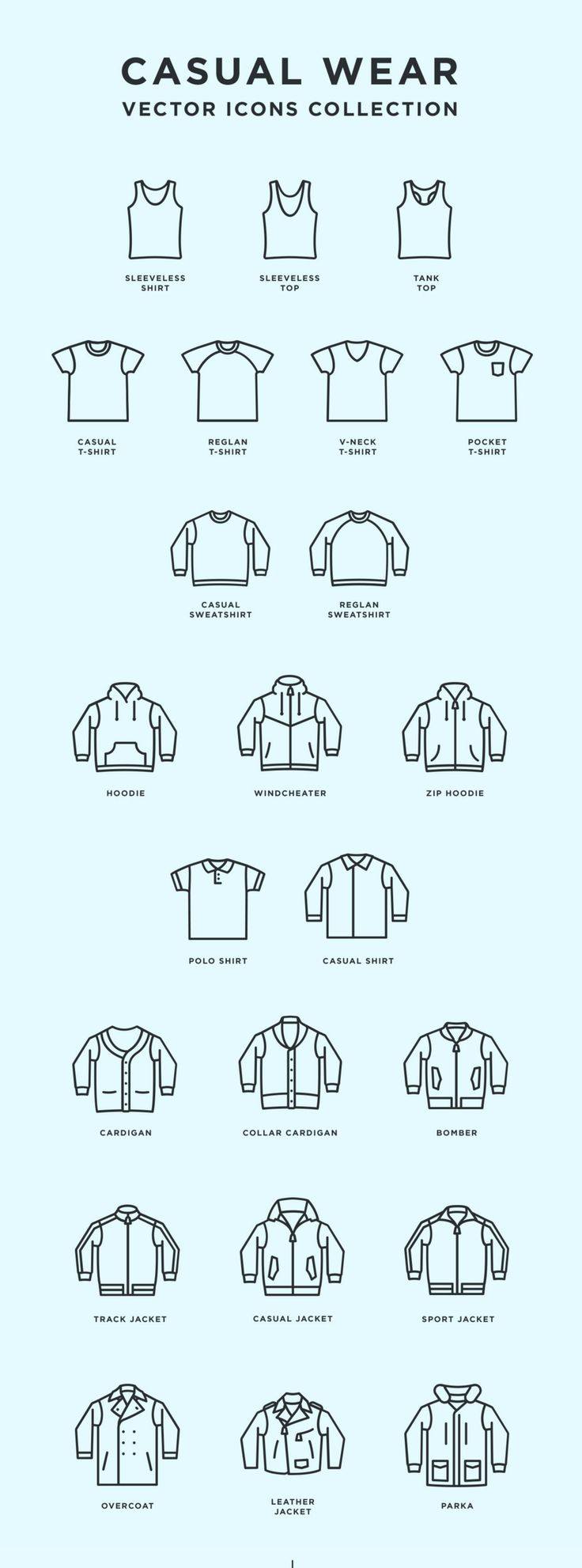 Casual Wear - Free Vector Icons