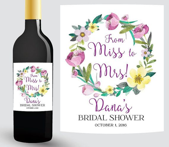 VINO NUPCIAL DUCHA etiquetas etiqueta de botella de vino