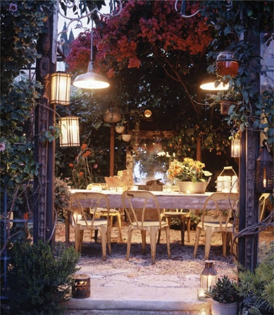 Evening Garden Patio - I could be happy here. Feeling very garden-y lately.