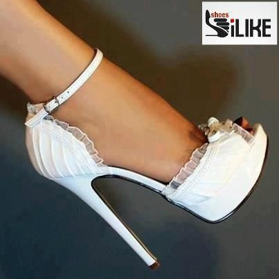 Beautiful White Wedding Heels!