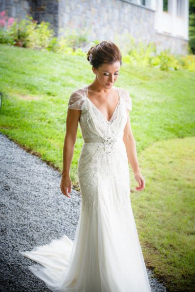 Gorgeous Jenny Packham: http://www.stylemepretty.com/new-york-weddings/2014/05/05/spectacular-adirondacks-broncos-wedding-on-lake-george/ | Photography: 49eyes - http://4eyesphotography.com/