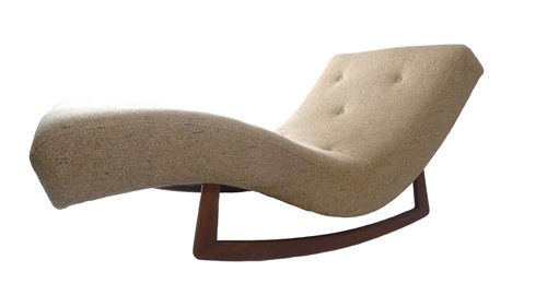 Mid century adrian pearsall for craft associates wave for Adrian pearsall rocking chaise