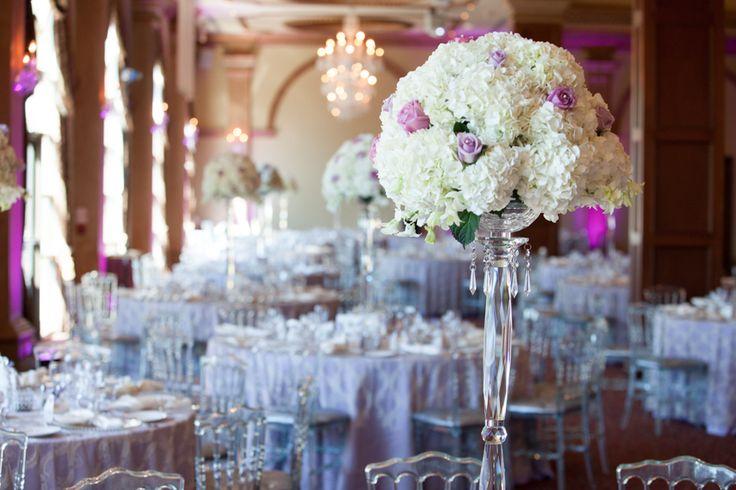 Royal Ambassador wedding reception decor with lavender, cream and silver colour palette