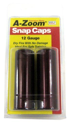 A-Zoom Precision Snap Caps 20 Gauge (2 Pack) by A-ZOOM. $10.79. Teaches safe gun handling. Hard anodized aluminum construction. Thousands of dry fires without damage. Functions like real ammo. A-Zoom 20 Gauge Snap Caps are ideal for training, storage, testing and practice. 2 rounds per package.