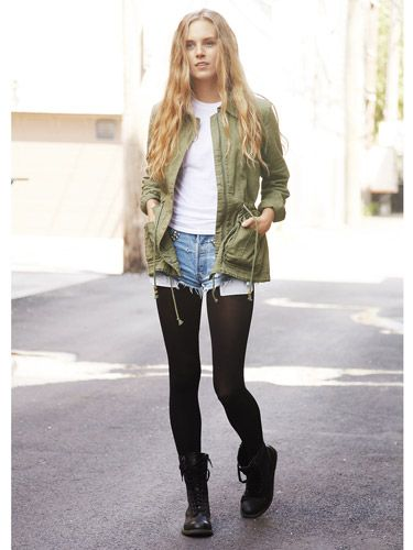 """CHICAGO Stephanie Finedore: """"Having superlong legs means that I can rock a pair of combat boots with confidence."""""""