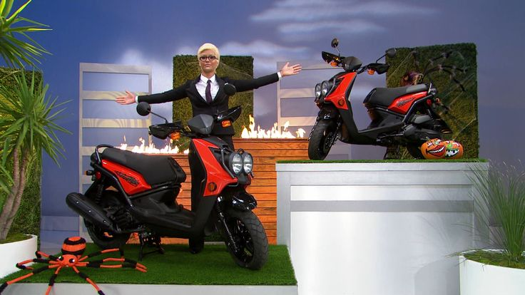 Hop on these Yamaha Zuma 125 Scooters, which each feature a 125 cc 4-stroke engine, Fully automatic Continuously variable transmission, and pushbutton electric start. #Scooters #Halloween #PriceIsRight