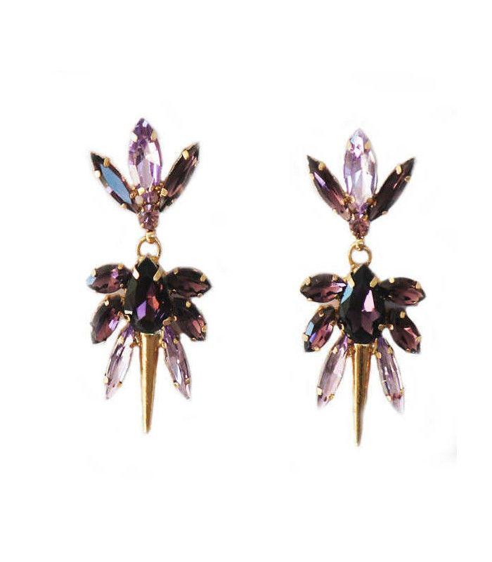 Miriam Stella Fashion Jewelry - Orecchini Spike #miriamstella #fashionblogger #moda #fashion #madeinitaly #fashionjewelry #jewelry #jewels #earrings #crystals #spike #pink