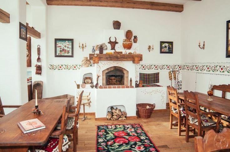 Traditional Romanian wood stove - adelaparvu.com despre restaurant tranditional romanesc La Conac, Iasi, Romania (1)