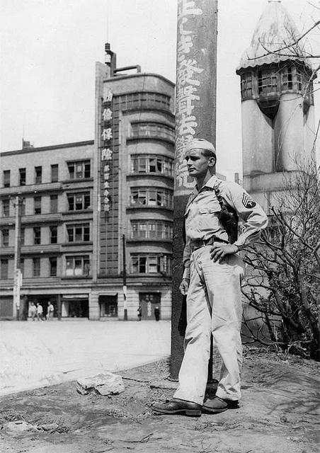 Unknown GI - Tokyo 1945, via Flickr.