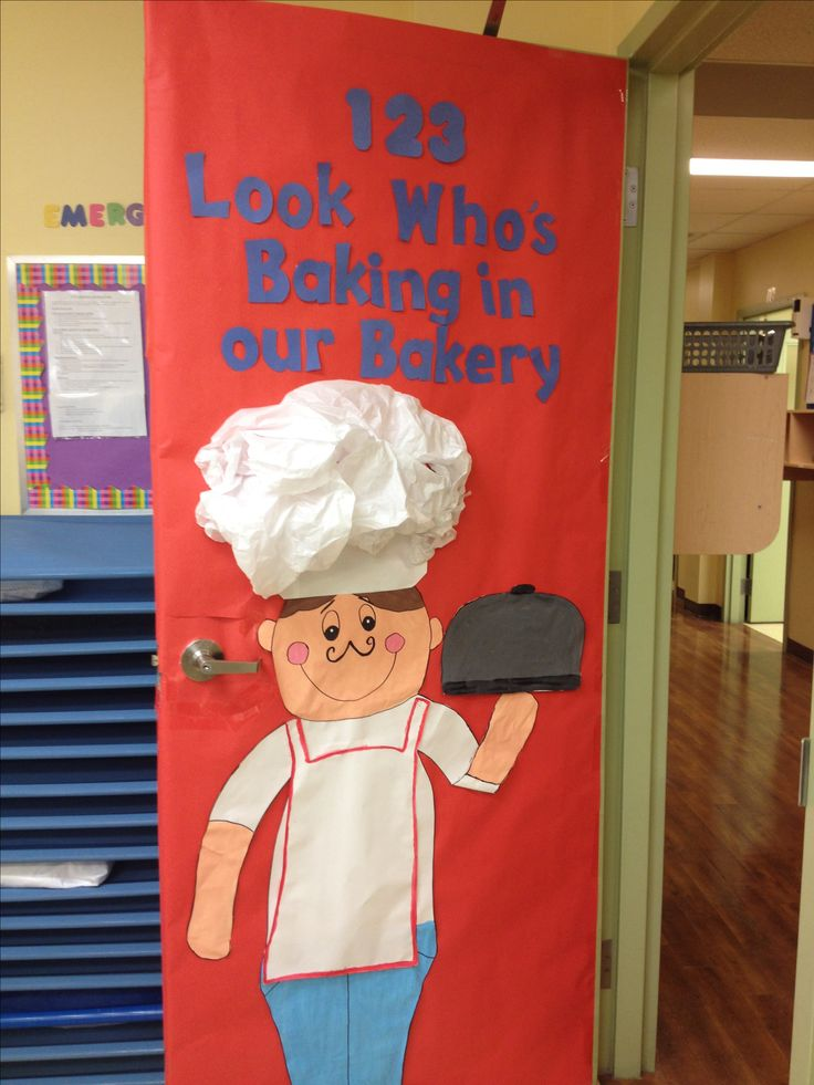 New month new door Bakery themed!!