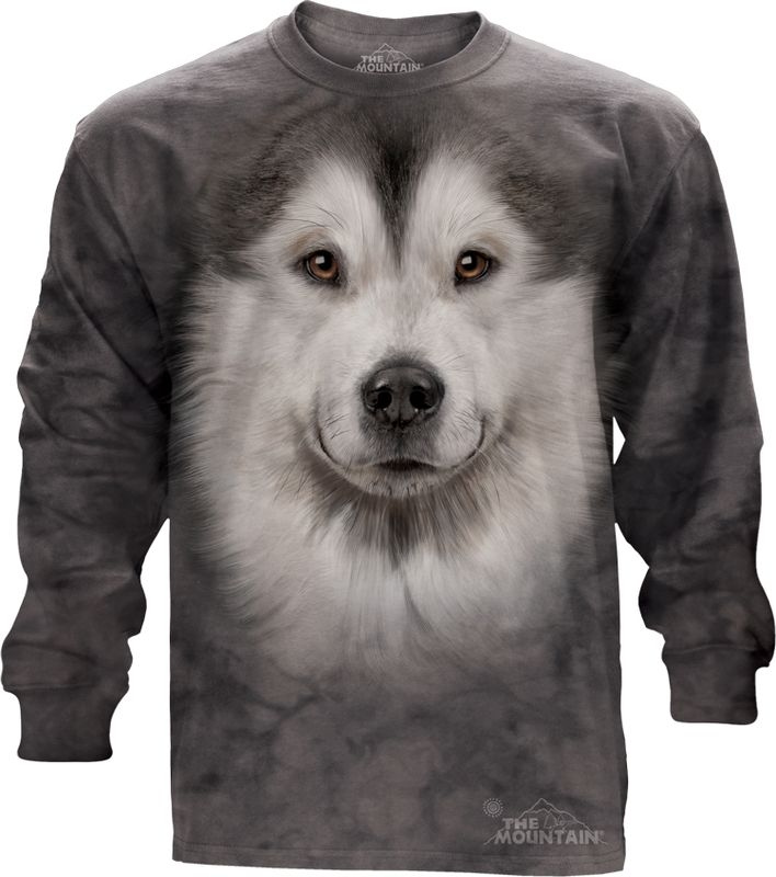 Big Face Alaskan Malamute Long Sleeve Tee - 30% DISCOUNT ON ALL ITEMS - USE CODE: CYBER  #Cybermonday #cyber #discount