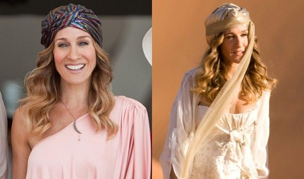 I have wanted a turban ever since I saw Carrie Bradshaw wearing one in Sex and the City 2. How gorgeous, right? She absolutely rocked it. Then again, she IS Carrie Bradshaw.