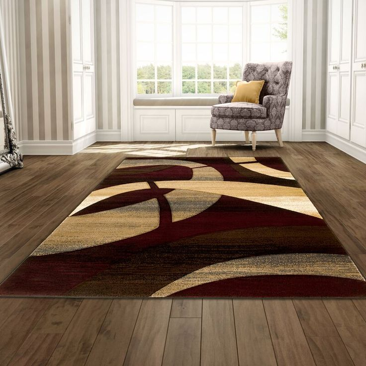 George Oliver Misner Abstract Burgundy Tan Area Rug Burgundy Living Room Area Rugs Brown Area Rugs