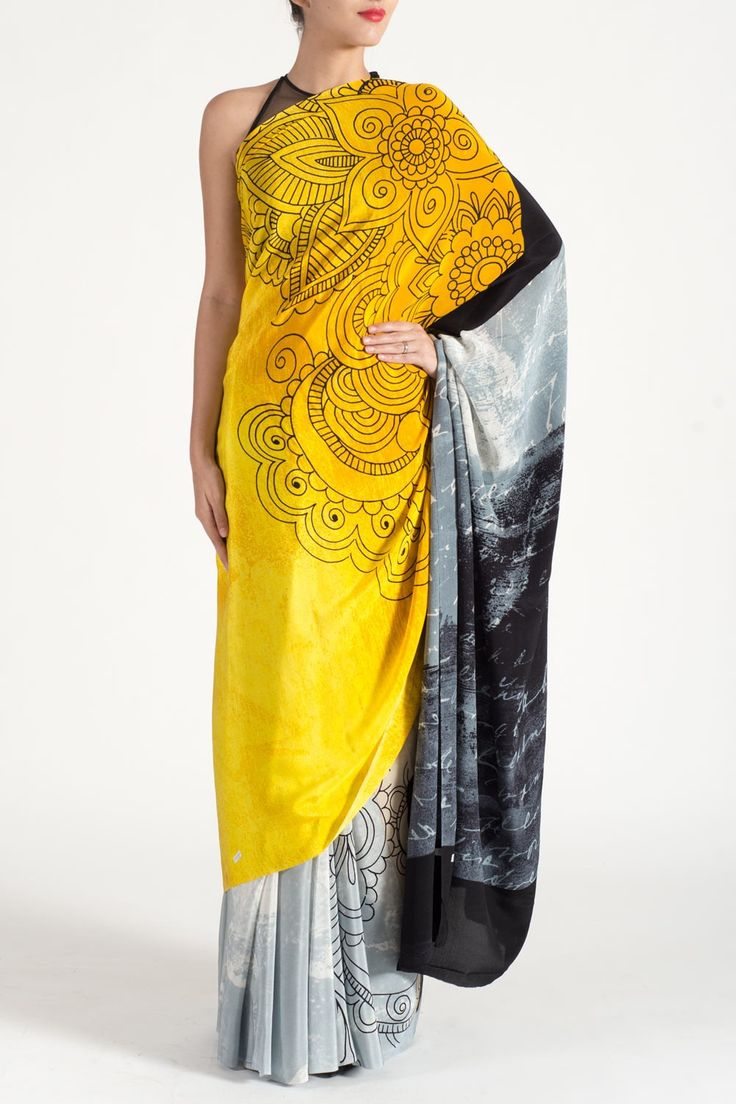 Latest style & collection of pretty embellished sarees for women online which available only at Satyapaul.