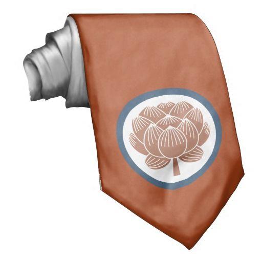 Lotus Flower Kamon Custom Tie