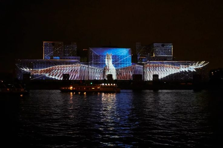 Constellations | Projection on the Ministry of Defense Building on Vimeo