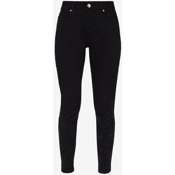 Stardust embellished skinny jeans ($80) ❤ liked on Polyvore featuring jeans, skinny jeans, ted baker, skinny fit jeans, zip fly jeans and zipper jeans