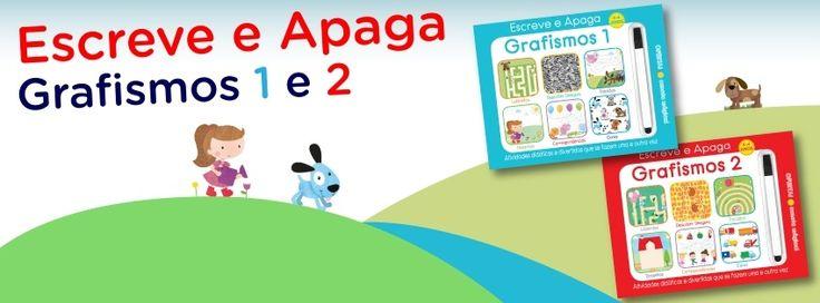 Livros interativos para serem reutilizados pelos mais pequenos, perfeitos para pais e educadores.