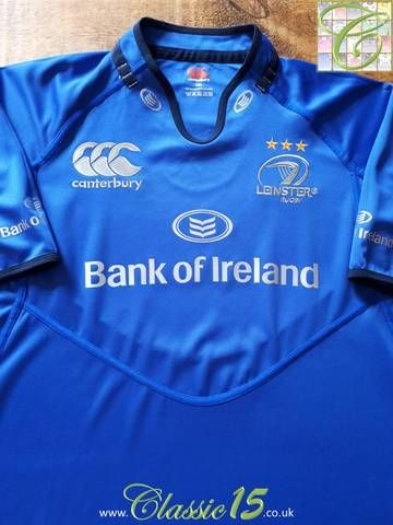 bcb0d2b220f Official Canterbury Leinster European rugby shirt from the 2013/14 season.  This jersey was worn during the club's Heineken Cup matches.