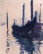 Gondola In Venice  by Claude Oscar Monet