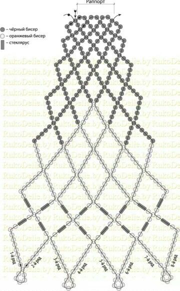 Воротник колье из бисера схема / beaded collar pattern