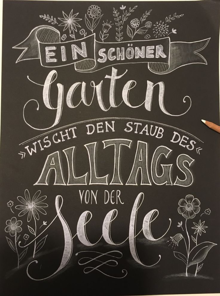 Title Mit Bildern Lettering Garten Zitate Auf