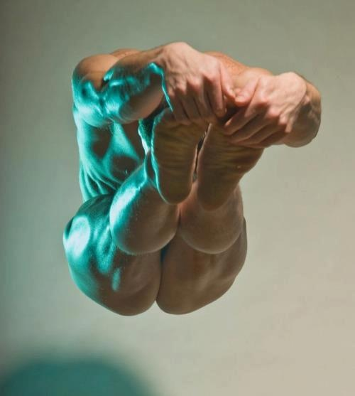 Uniquely style, i think its difficult position and hurt body :O