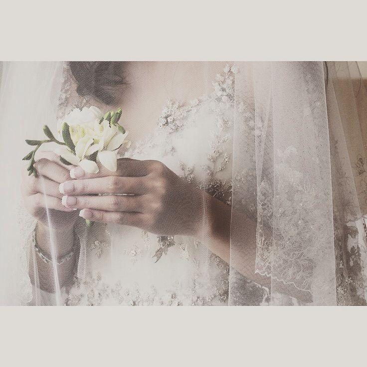 White & corsage