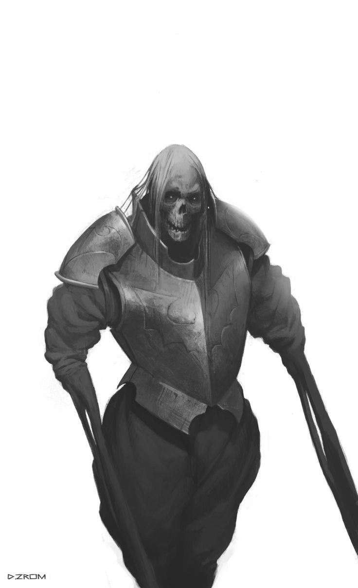 Skeleton Lord, Daniel Zrom on ArtStation at https://www.artstation.com/artwork/2qe3a
