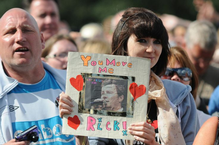 Rick Astley fan at the South Tyneside Summer Festival FREE Sunday Concert.