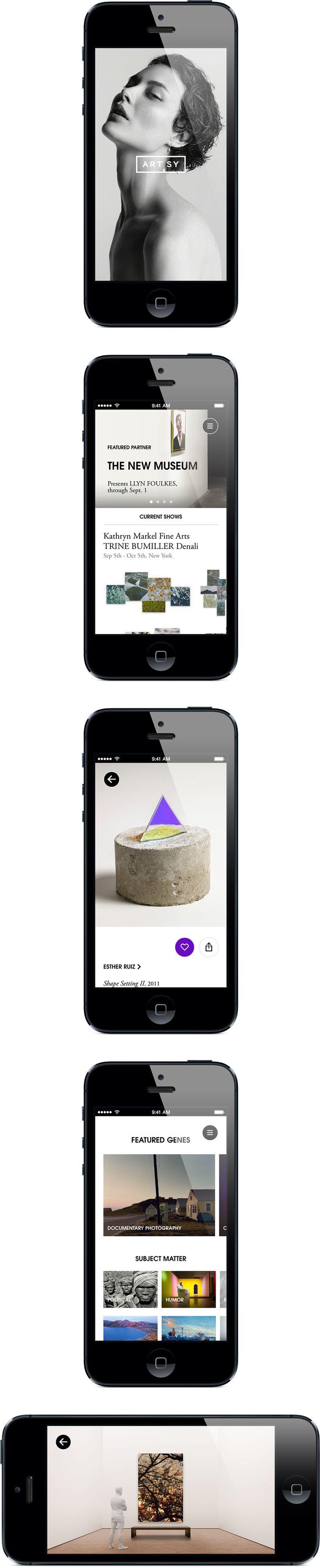 Daniel Källbom - Artsy App Design