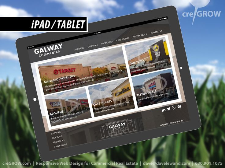 creGROW Commercial Real Estate Website Client: Galway Companies (Madison, WI) http://GalwayCompanies.com