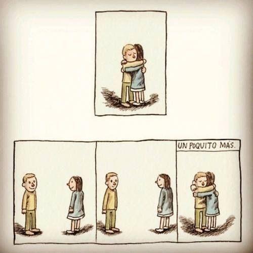 E o mundo para dentro de um abraço!