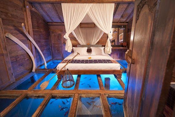 ベッドの下はエビの池、自然の中の隠れ家ホテルをのぞいてみたよ | roomie(ルーミー)