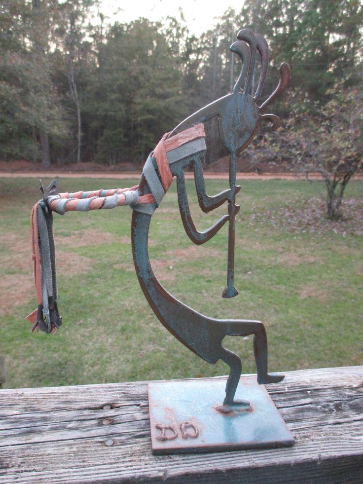 Metal Sculpture Kokopelli Votive Candle Holder--Hopi Indian--Signed--Native American Decor--Decorative Southwestern Style-- by AlloftheAbove on Etsy